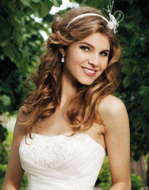 Brautfrisuren Fur Lange Haar Brautfrisur Haarschmuck Haarreifen Hochzeit