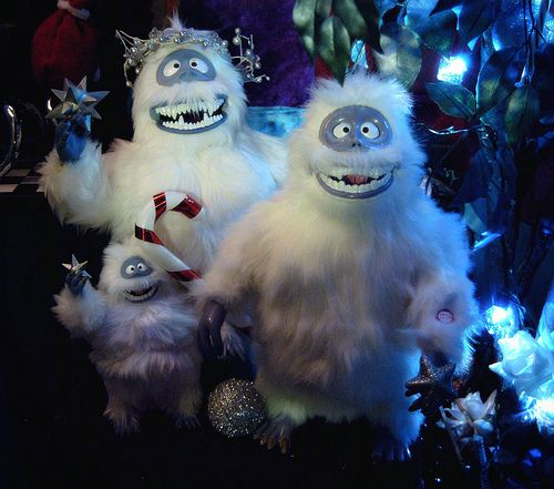 Christmas Bumble Abominable Snowman Corner close--up Christmas