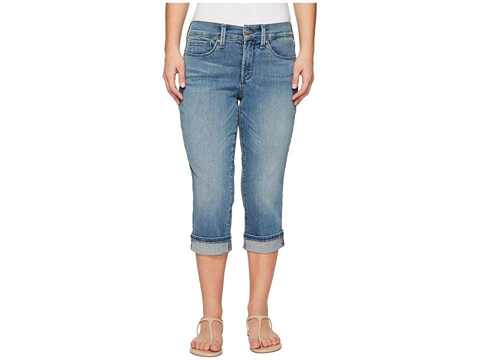 NYDJ Petite Petite Marilyn Crop Cuff in Pacific Pacific Womens Jeans Slimming straightleg crops from NYDJ Fivepocket crop has a high rise and straight leg Lift Tuck Techn...