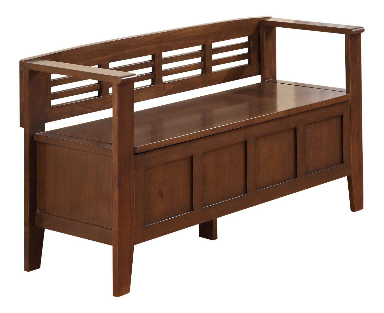 Ordinaire Amazon.com: Simpli Home Adams Entryway Storage Bench, Medium Rustic Brownu2026