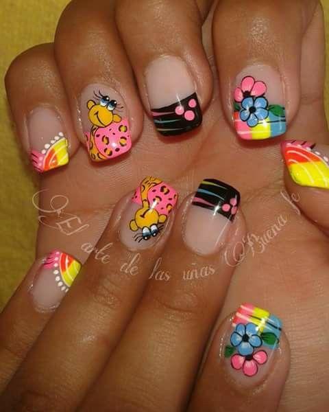Unas Manu Adriita Nails Nail Art Y Short Nails