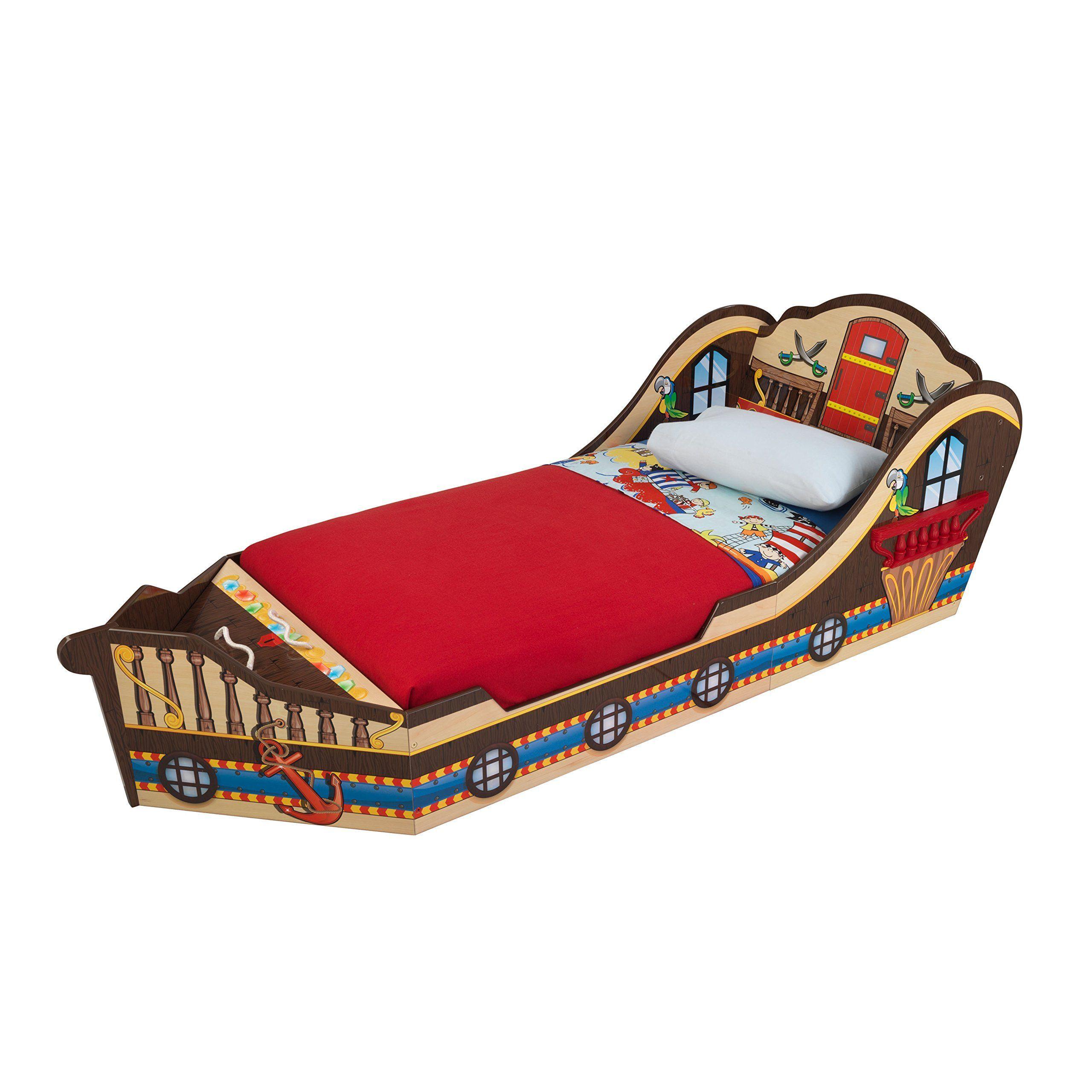 "KidKraft Toddler Pirate Bed. 72.5""L x 32""W x 20.25""H"