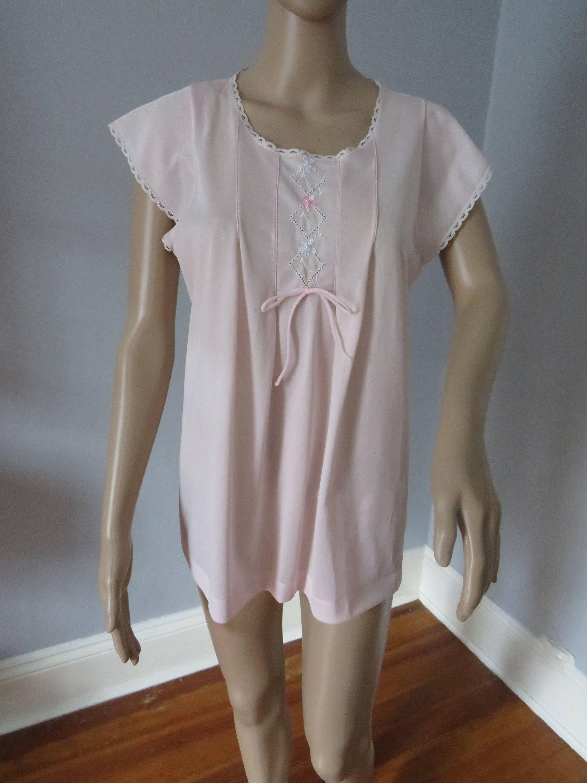 91a49525f4 romantic vintage Lorraine pink babydoll pjs by Vinethlin on Etsy ...