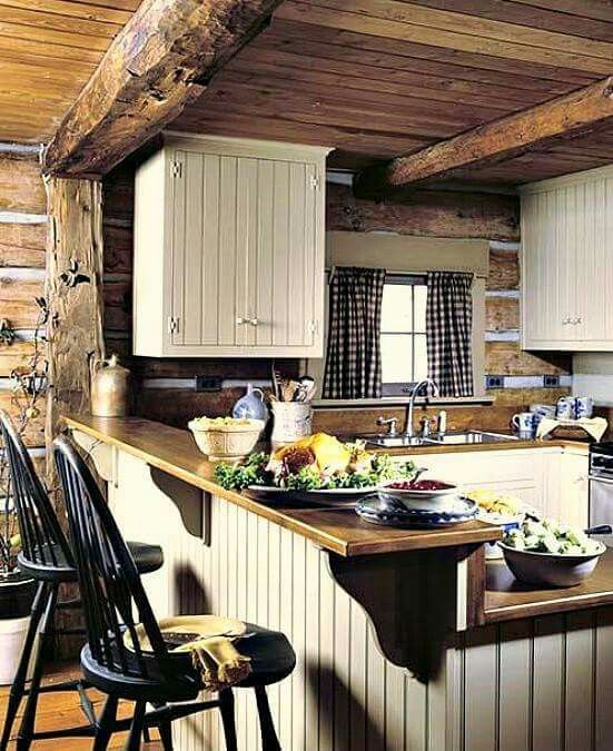 Pin by MaryEllen Mc on My Style Log home kitchens, Small