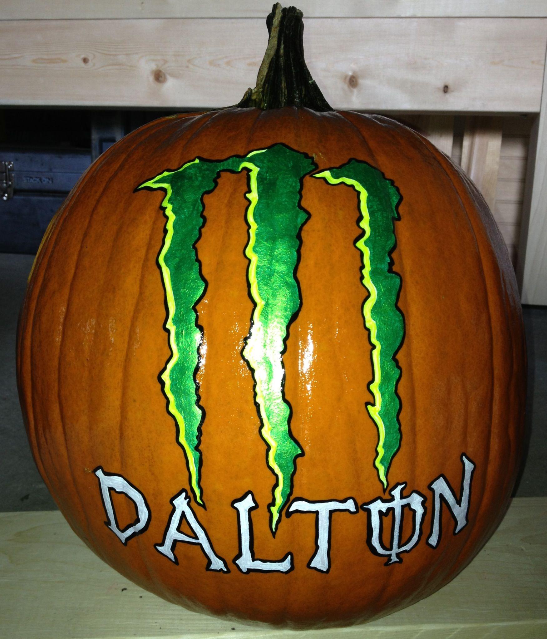 Monster Energy Drink Logo pumpkin | Artsy Crafty | Pinterest