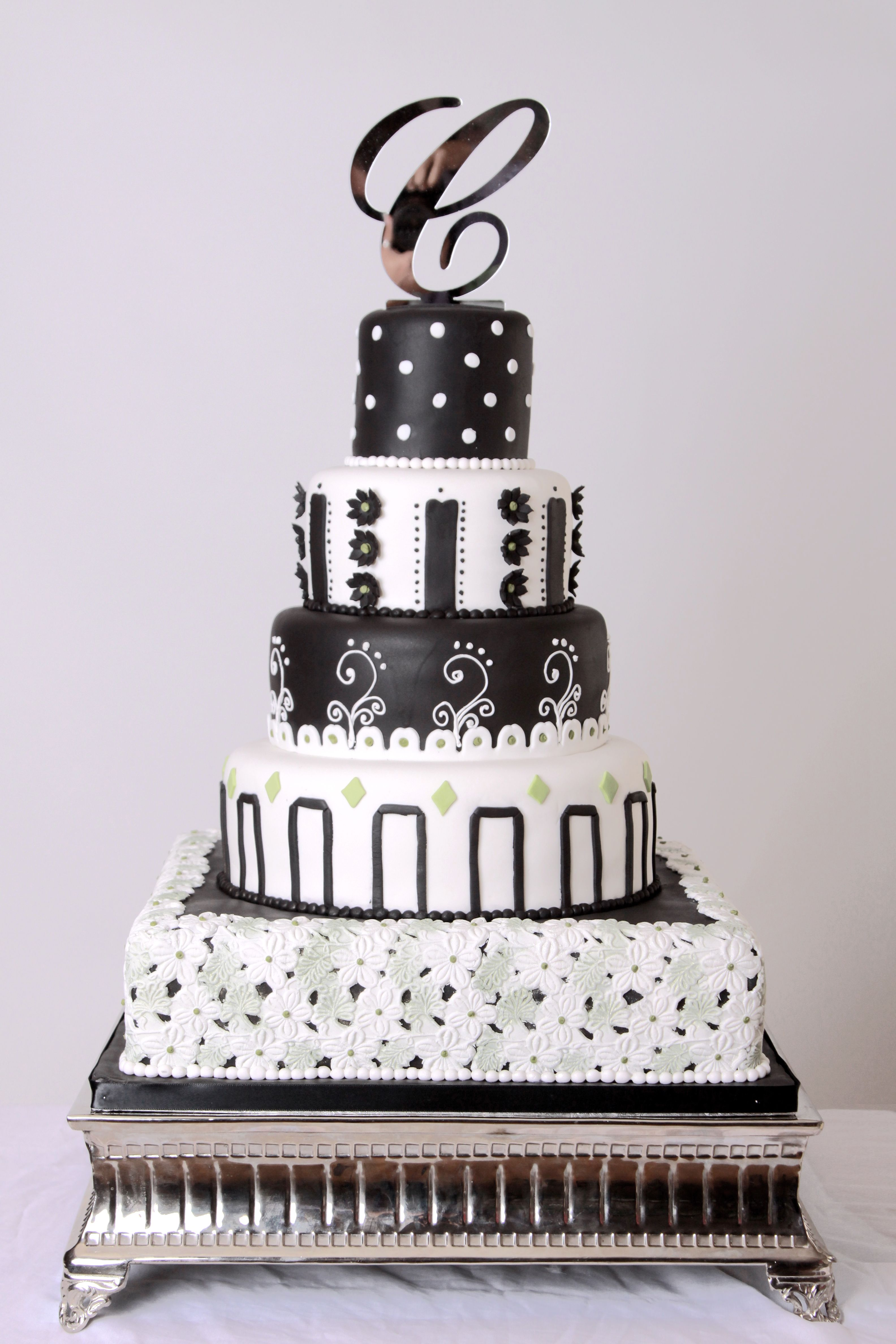 Black and white party cakes for quince pinterest black