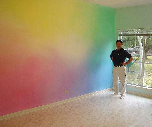 Image Result For Rainbow Painted Wall Technique
