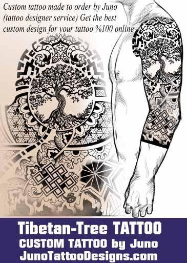 tibetan tattoo, tree of life tattoo, tattoo template, create a - tattoo template