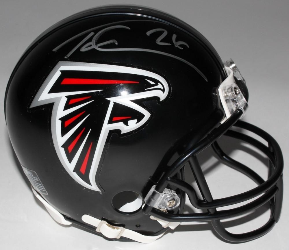 Tevin Coleman Signed Atlanta Falcons Mini Helmet Miller Memorabilia Atlanta Falcons Atlanta Falcons Crafts Football Helmets