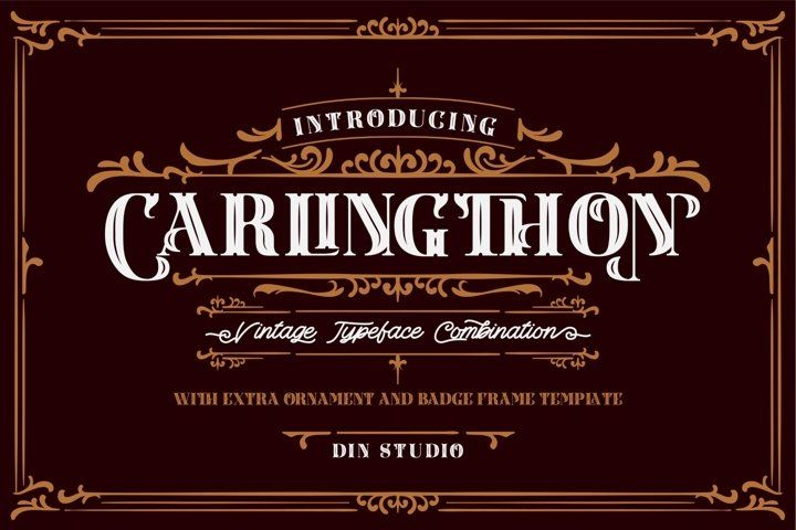 Download Carlingthon Vintage Font Pack (755266) | Display | Font ...
