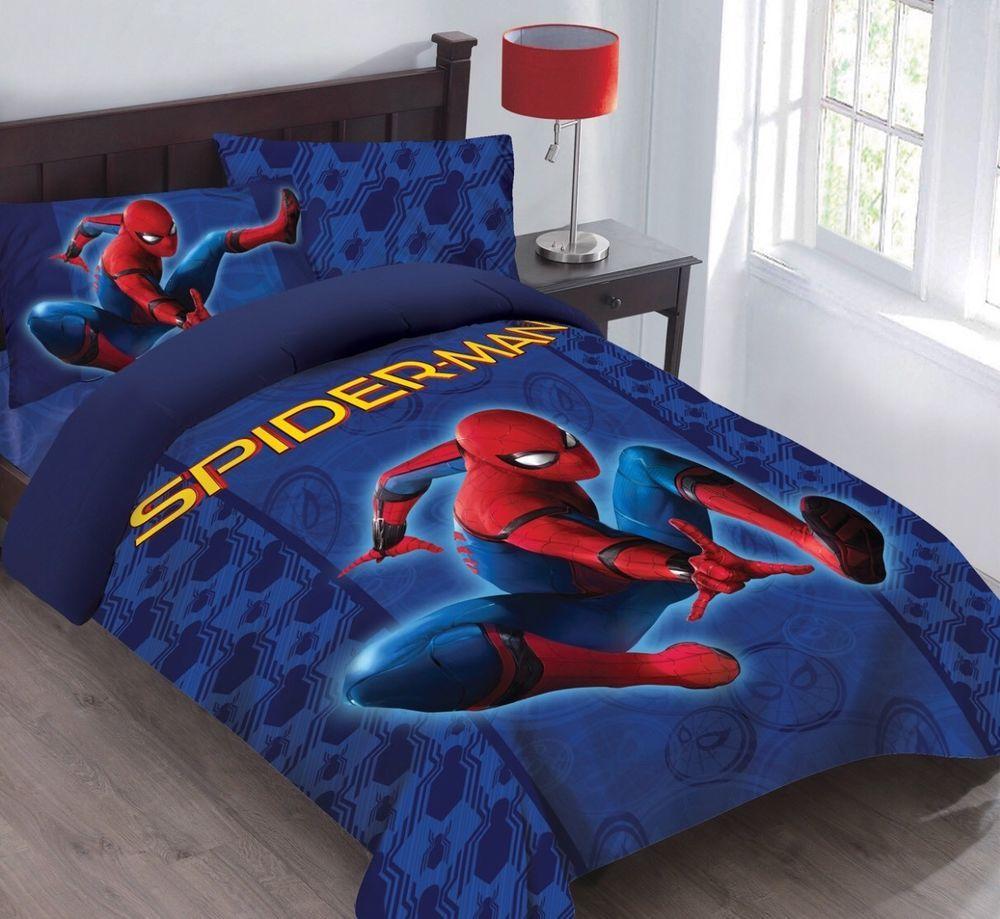 Marvel Spiderman Friendly Neighborhood Full Comforter Set With