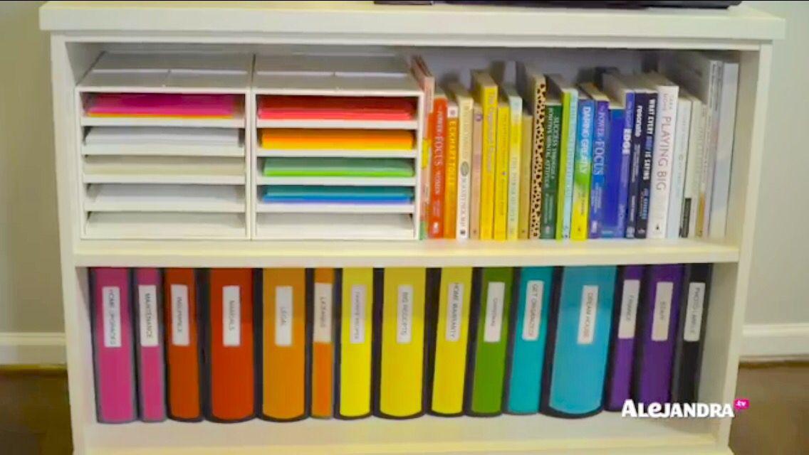 Alejandra Costello Office Organization. Books. Papers