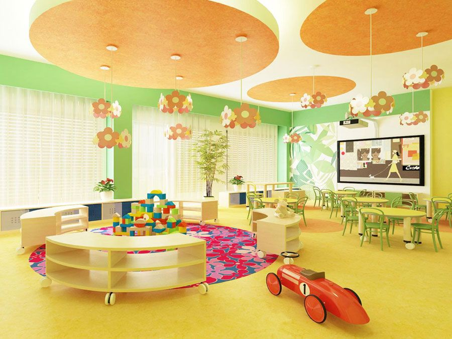 Modern Classroom Model ~ The model project of interior design kindergarden