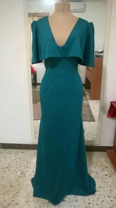 92f2014b Vestido confecciónado con tela scuba | vestidos de fiesta | Vestidos ...