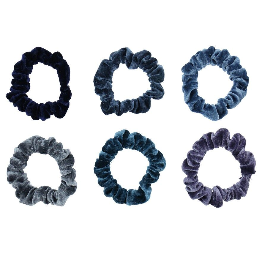 LC Lauren Conrad 6-pack Blue Velvet Mini Twister Hair Ties, Dark Blue #laurenconradhair