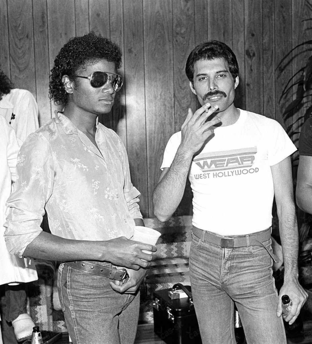 Michael Jackson And Fred Mercury To Her 1981