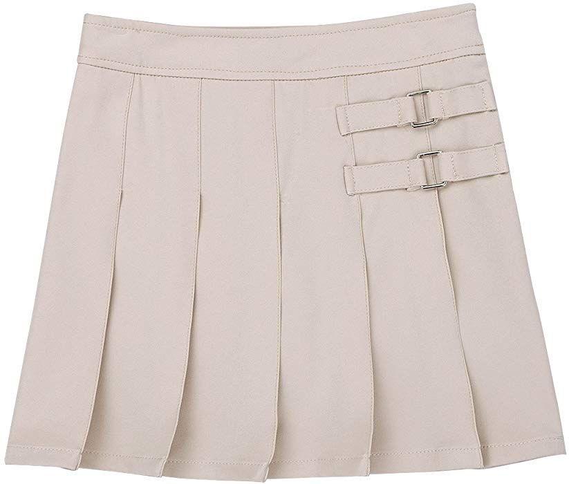 Girls Khaki Pleated Skirt French Toast School Uniform Sizes 4 to 20
