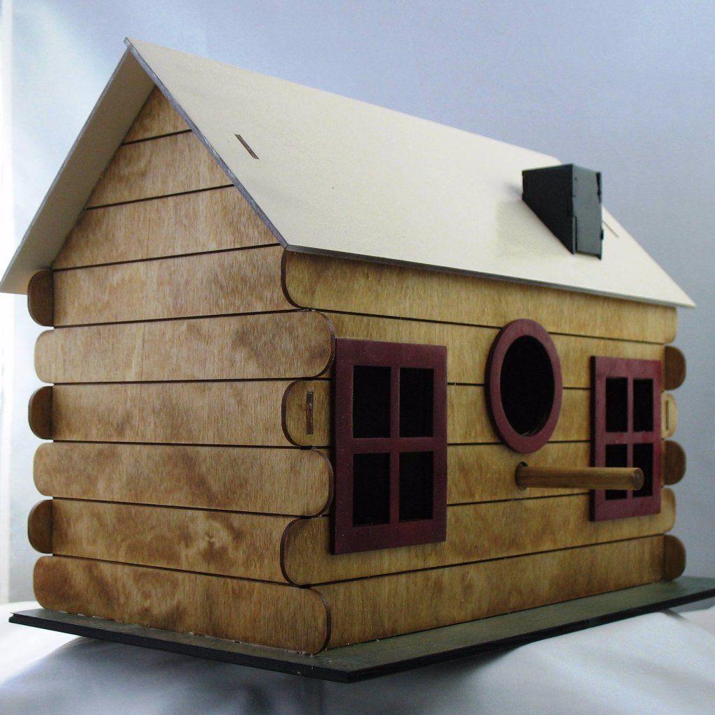 Adobe log cabin birdhouse kit our products pinterest birdhouse