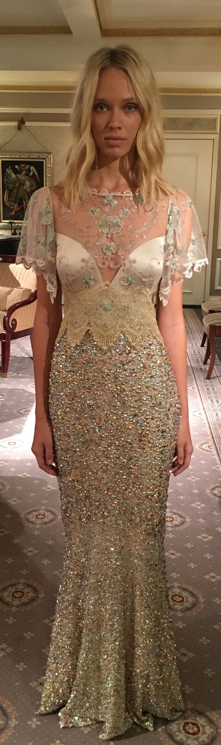 Zodiac wedding dress by Claire Pettibone The Four Seasons collection ...