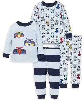 e1bdc3e40 Little Me Baby Boy s Four-Piece Race Pajama Set