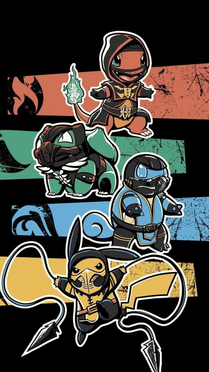 Download 720x1280 wallpaper Ninja pokemons, art, Samsung