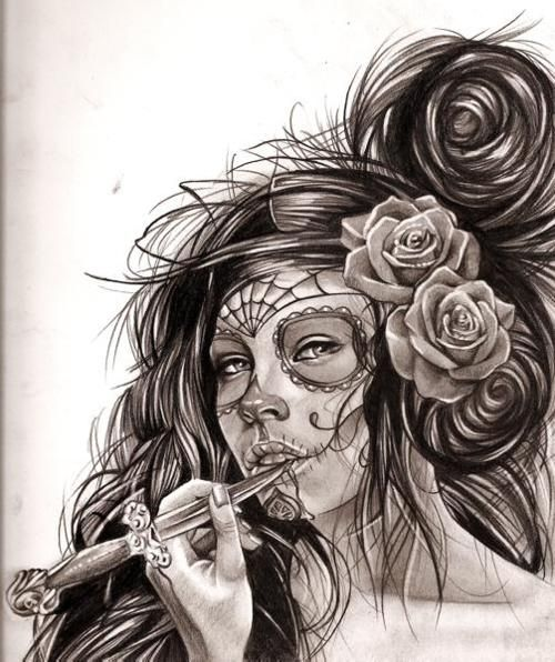 Sugar Skull sketch. Would make awesome tattoo | Ink Love ...