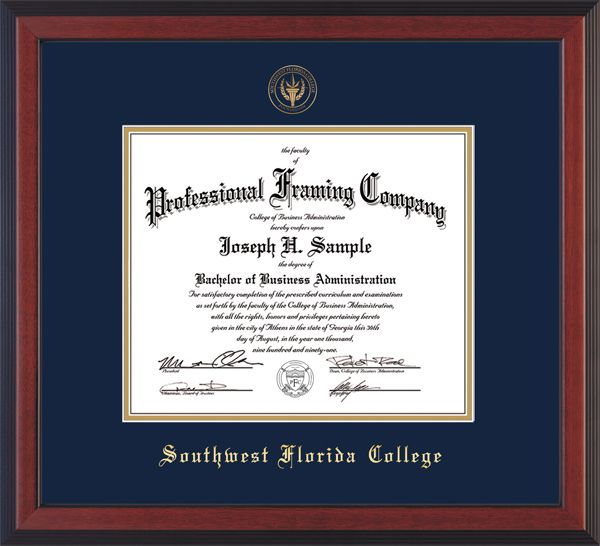Southwest Florida College Diploma Frames With Seal