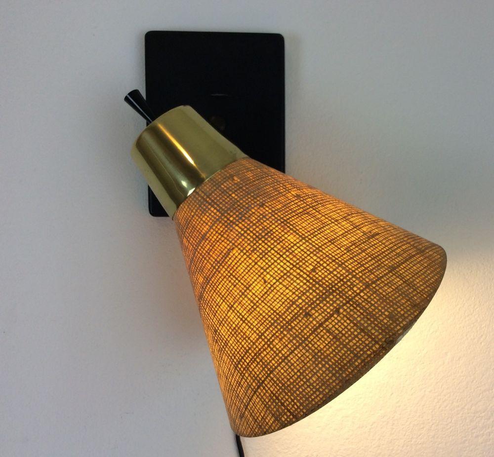 Vintage Mid Century Prescolite Sconce Wall Hanging Lamp Fiberglass