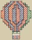 Resultado de imagem para grafico de balão em ponto cruz
