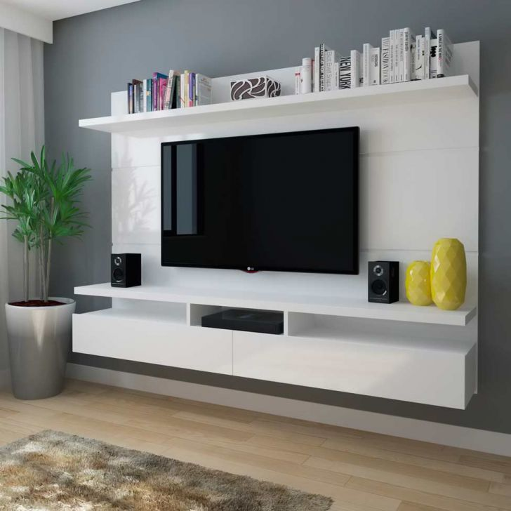 Painél para Tv Zeus 2.2 Branco Gloss … | Pinteres…