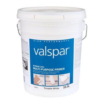Valspar interior latex tintable white multi purpose primer - Valspar integrity exterior paint ...