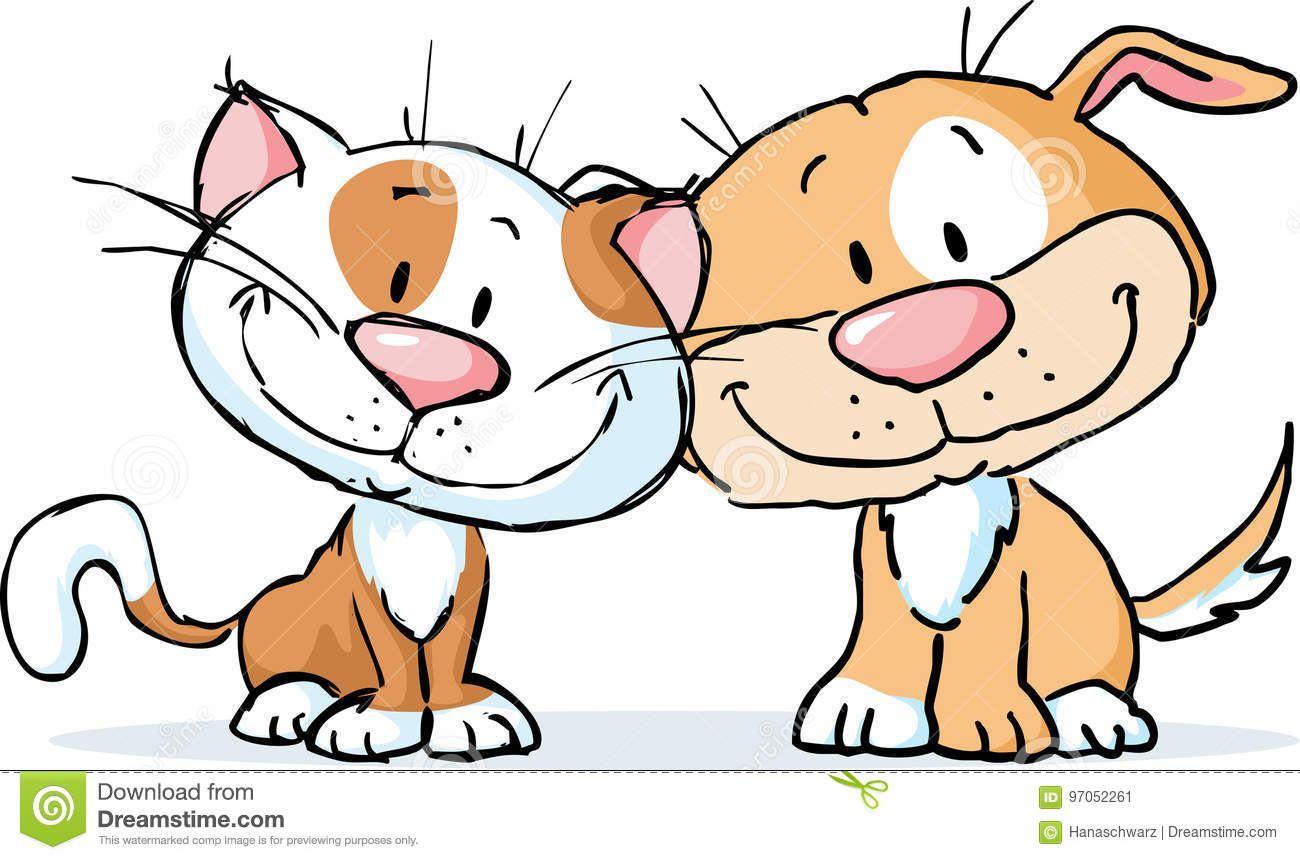 кот и собака | Собаки, Кот