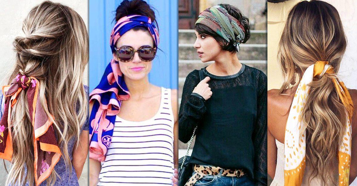 15 Formas de incluir una mascada a tu peinado en minutos; dale un lado divertido a tu look de siempre