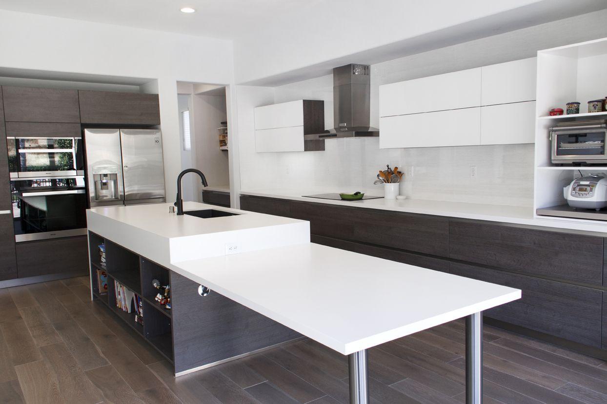 Simi Valley Project Bauformat Germany Kitchen Cabinet Bali 125 Rift Anthracite Oak Murano 803 Glass Countertop Dek Kitchen Interior Glass Countertops