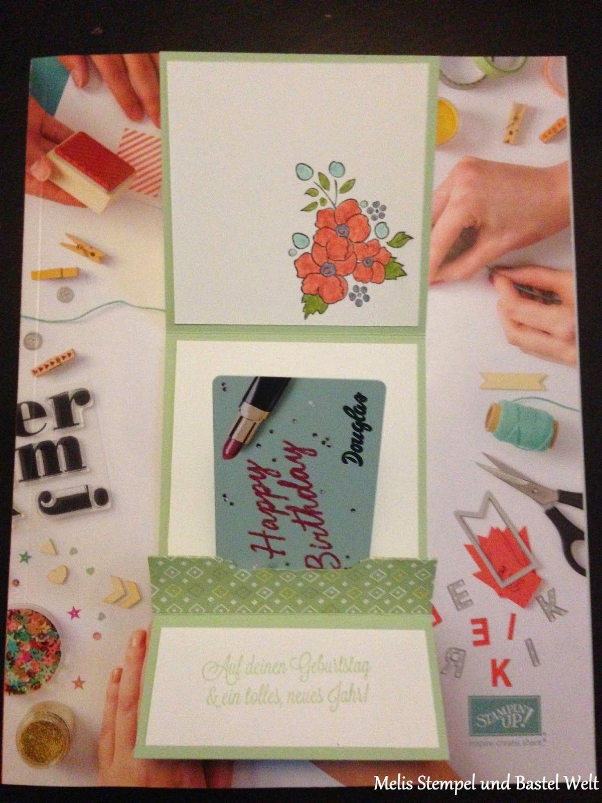Stampin Up Verpackung, Gutschein Karte, SAB 2014, Sale a Bration, Süße Sorbets, Dein Tag, Bordering On Romance, Stampin Write Marker
