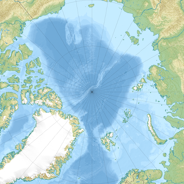 Arctic Ocean Relief Location Map Spitzbergen Inselgruppe - Norway map wiki