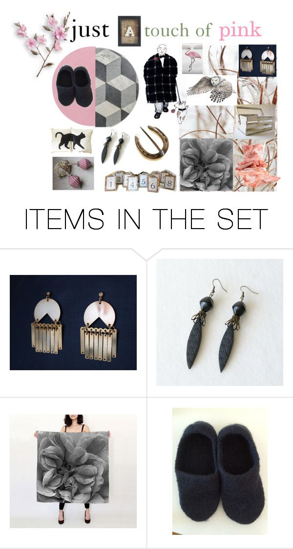 """""""just a touch of pink"""" by belinda-evans ❤ liked on Polyvore featuring art"""