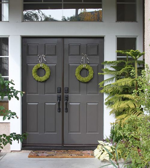 I like this the dark gray vs basic black double front for Dark grey front door