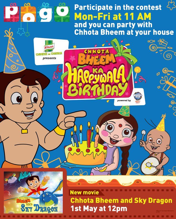 Wish Chhota Bheem Happy Birthday Happy Brithday Birthday Happy Birthday