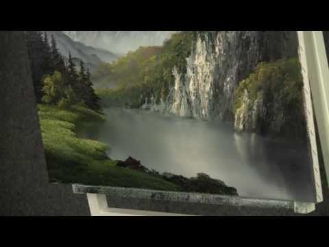 Learn How To Paint A Mountain Scene by Acrylic Artist Brandon Schaefer - YouTube