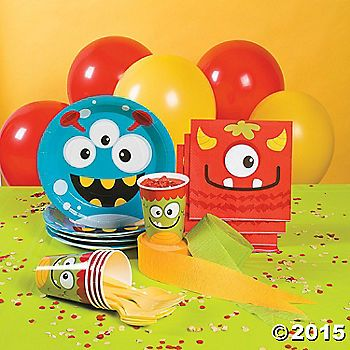 Mini Monsters Party Supplies Brysons first birthday Pinterest