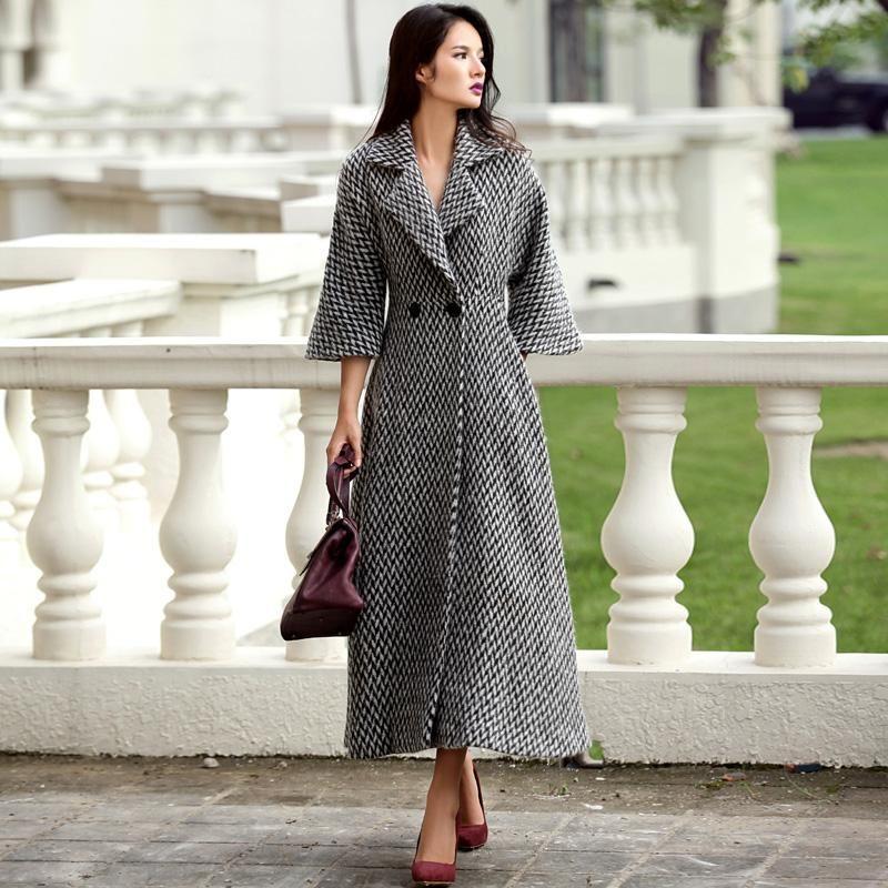 0f4ce415a New Vintage Women Wool Long Woolen Coat Autumn Women s Winter ...