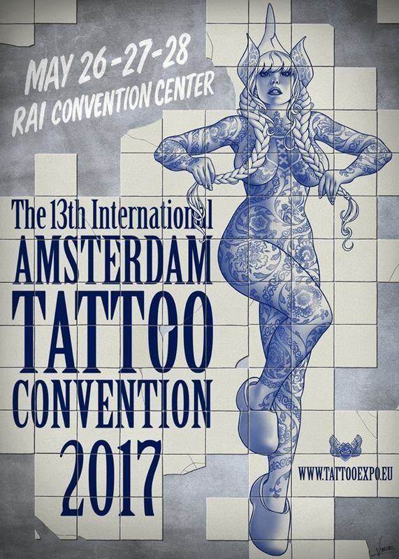 Fabiana Traditional Poster Canopy Leather Bedroom Set W: International Tattoo Convention Amsterdam 2017