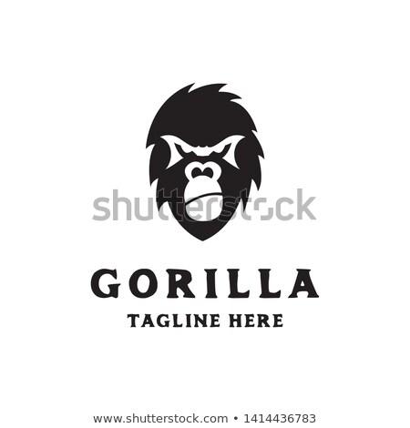 Simple Gorilla Head Face Logo Icon Vector Template Logo Icons Pet Logo Design Logo Design