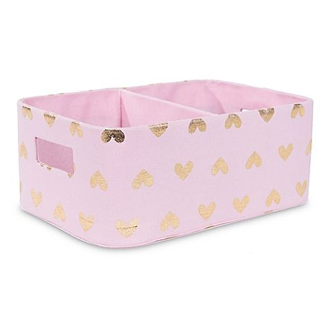 buy online bcf78 46168 Taylor Madison Designs® Hoppy Hearts Diaper Caddy in Pink Gold