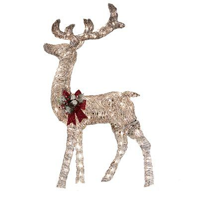 holiday living 52 in lighted vine reindeer outdoor christmas decoration - Outdoor Christmas Reindeer Decorations Lighted