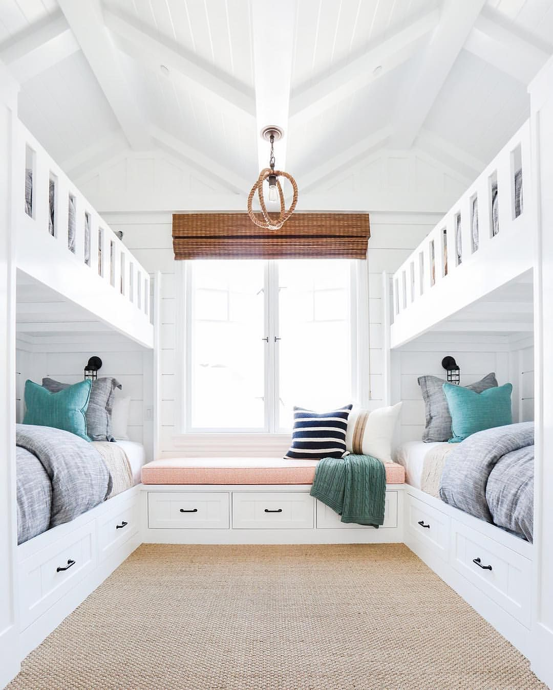 So much to love in this sweet bunk room! #projectbayshores ...