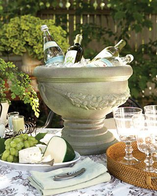 Pretty! Great use for a garden urn.
