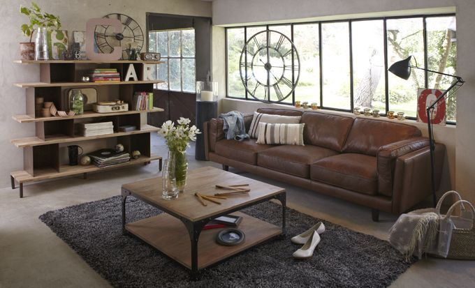 1000 ideas about canap style industriel on pinterest couch style industriel and loft - Meuble De Salon Industriel