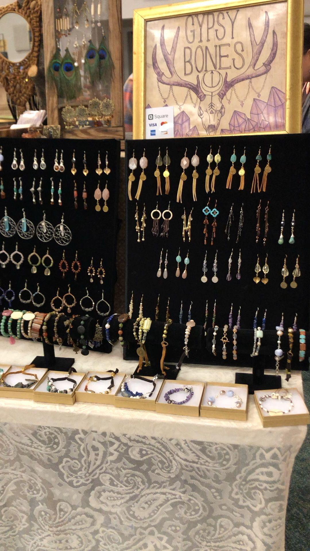 Gypsy Bones Jewelry Display #gypsysetup Here is my jewelry display setup for the...#bones #display #gypsy #gypsysetup #jewelry #setup